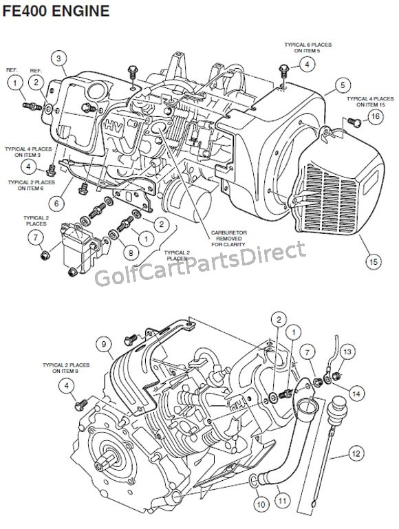 ENGINE, FE400 (KEY-START) - SHROUDS AND BRACKETS