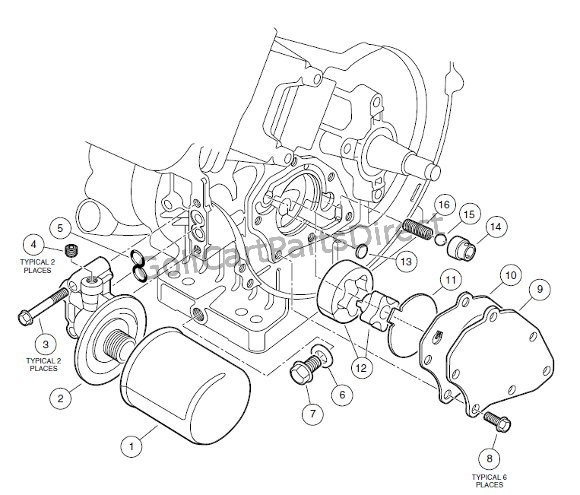 ENGINE, FE400 (KEY-START) - OIL CIRCULATION