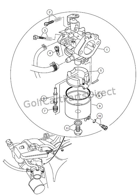 CARBURETOR ASSEMBLY, FE400 ENGINE