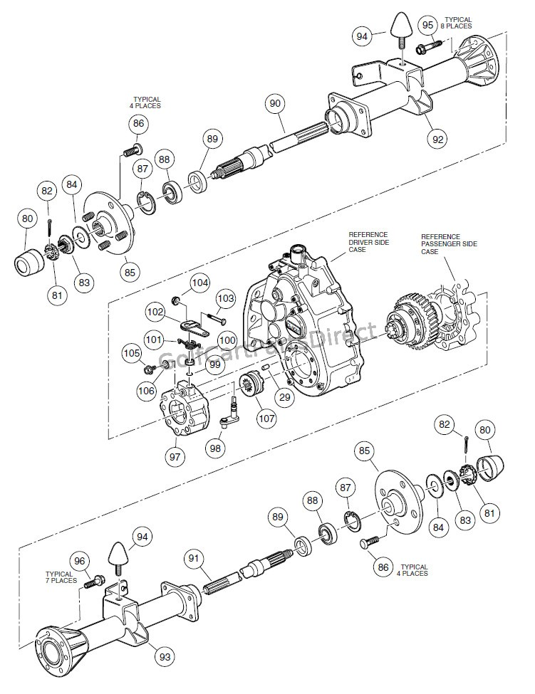 club car rear differential diagram club car 36v wiring diagram 1976 unitized trasaxle – mc012c-as00 prior to serial number ... #8