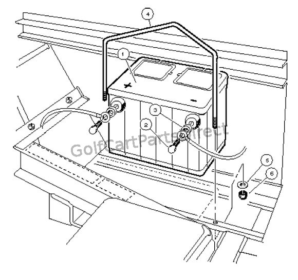 Battery Mounting - Gasoline Vehicle
