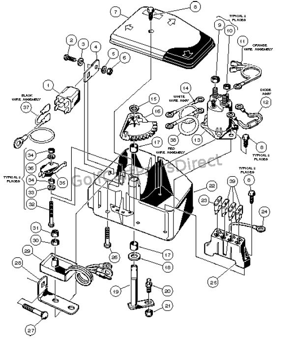 91 gas club car wiring diagram