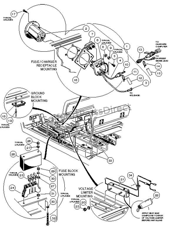 Club Car Xrt 950 Wiring Diagram : Carryall wiring diagram
