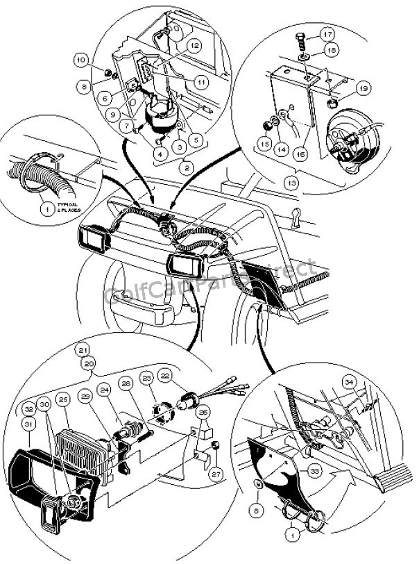 Electrical Components, Front body, Gasoline - Carryall 6