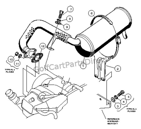 exhaust system  fe290 - carryall 1 and 2