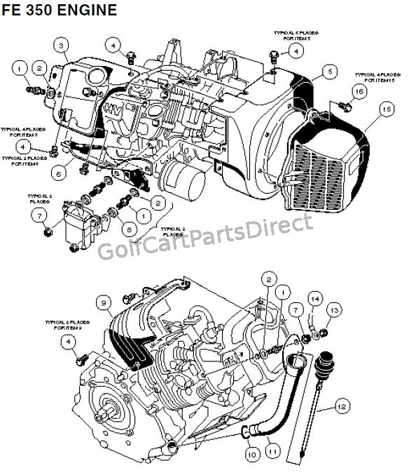 FE 350 Engine - Carryall 2 plus and 6 � Part 1