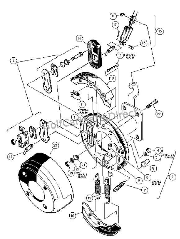 front brake assembly w   4-wheel braking