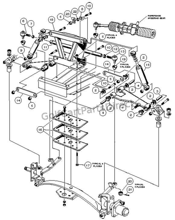 club car differential diagram