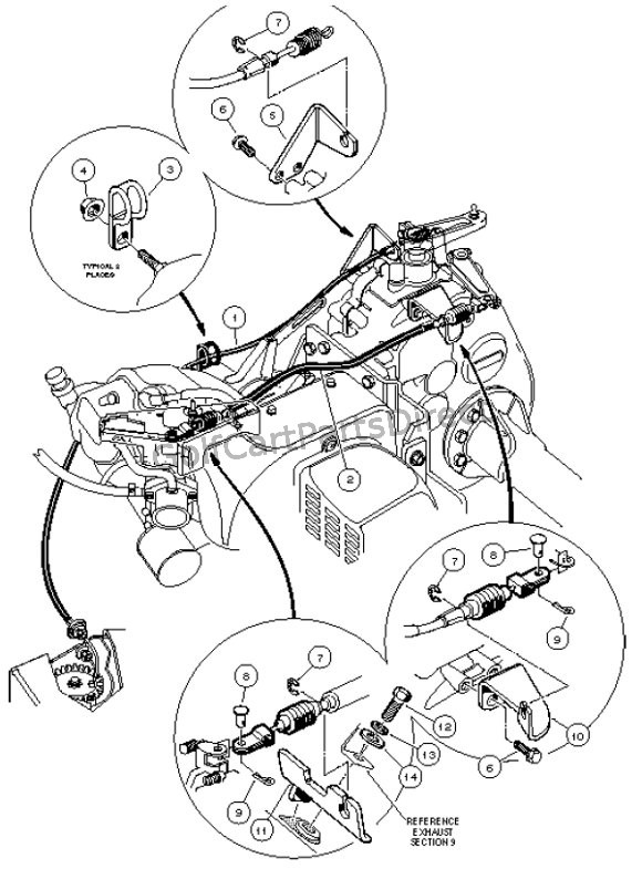 Gas Club Car Accelerator Linkage Parts Diagram