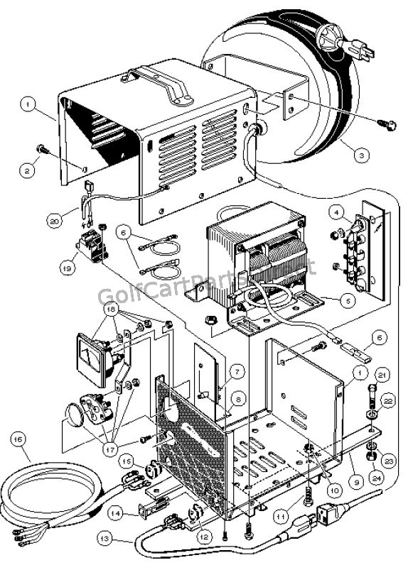 lester battery charger wiring diagram lester ii battery charger wiring diagram on-board powerdrive battery charger, domestic - carryall 6 ...