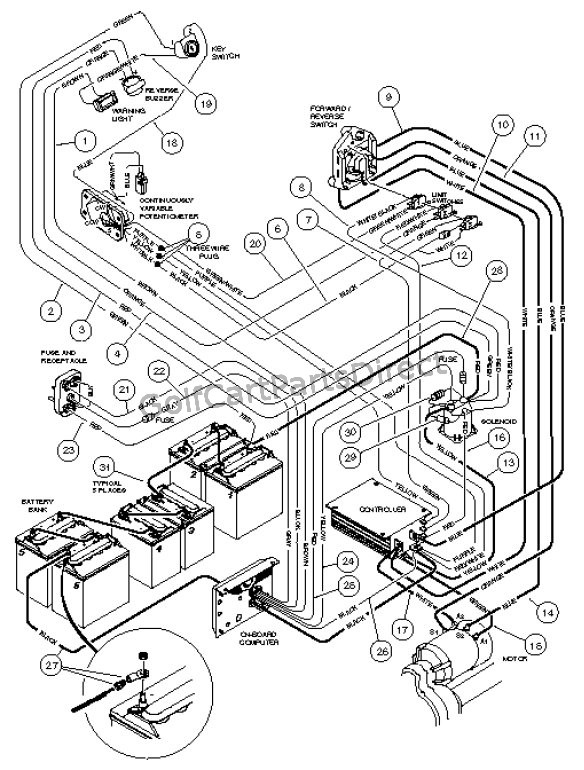 wiring - carryall i powerdrive electric vehicle - club car ... 1986 chevy diesel alternator wiring diagram carryall wiring diagram #13