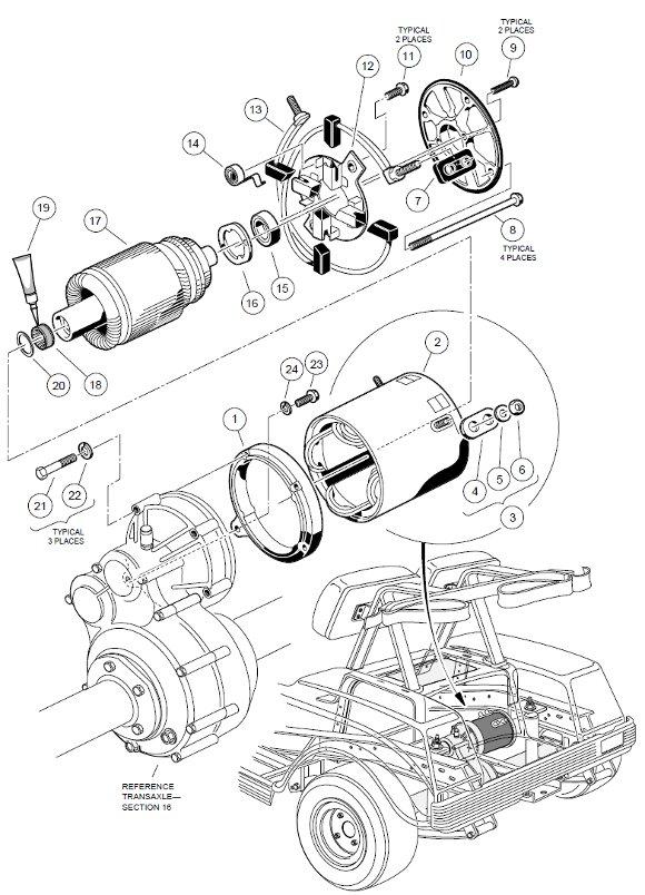 1998-1999 Club Car DS Gas or Electric - GolfCartPartsDirect