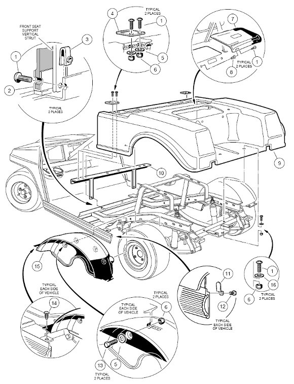 c10_rear__gas Club Car Gas Engine Starter Wiring Diagram on 48 volt battery, royal ride 36v, 48 volt system, ds service solenoid, model 5bc48jb764, speed controller, rev fwd switch, lighting system, golf cart batteries,