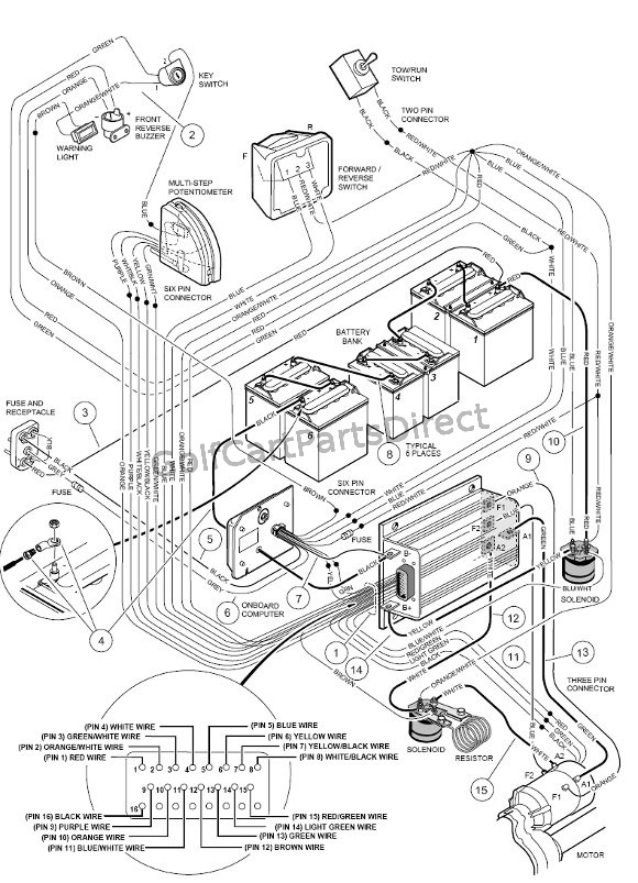 2000 club car golf cart wiring diagram 48 volts  stereo