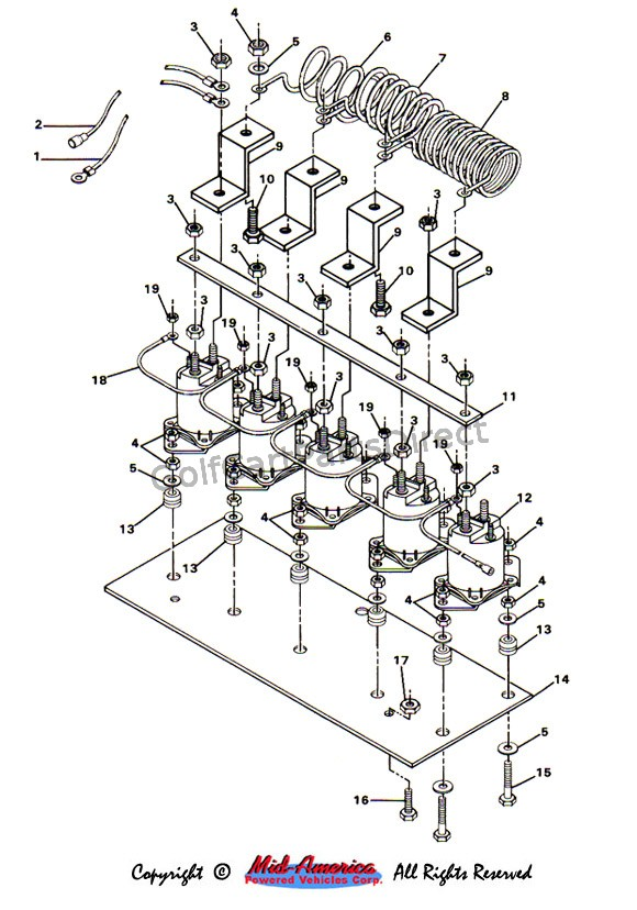 1986 club car ez go 36v wiring diagram 1984 1991 club car ds electric golfcartpartsdirect  1984 1991 club car ds electric