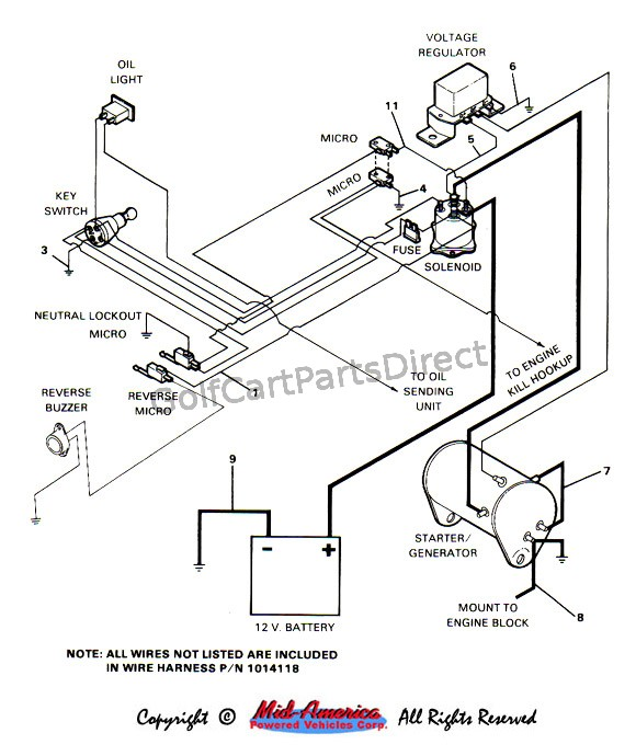 1984 1991 club car ds gas golfcartpartsdirect 2012 Ezgo Wiring Diagram