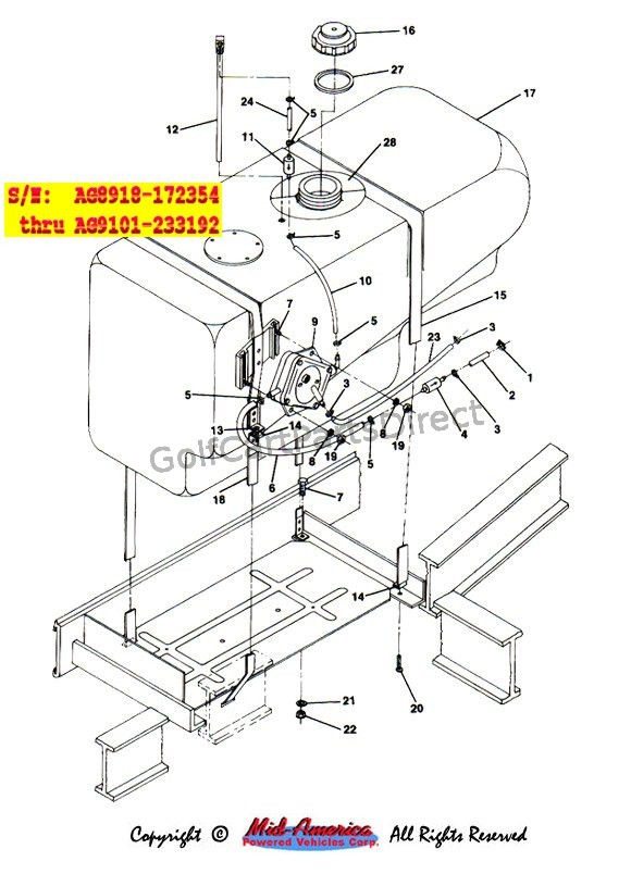 C Fuel System on club car front suspension parts diagram