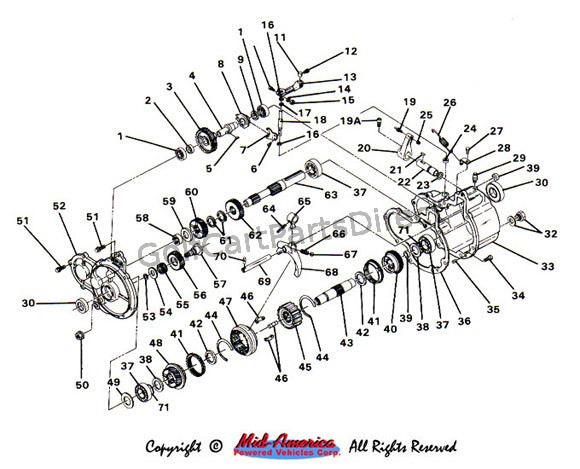 club car clutch diagram