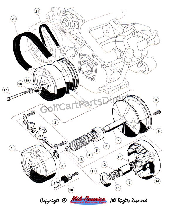 club car golf cart clutch diagram wiring diagram work Yamaha Golf Cart Clutch Parts