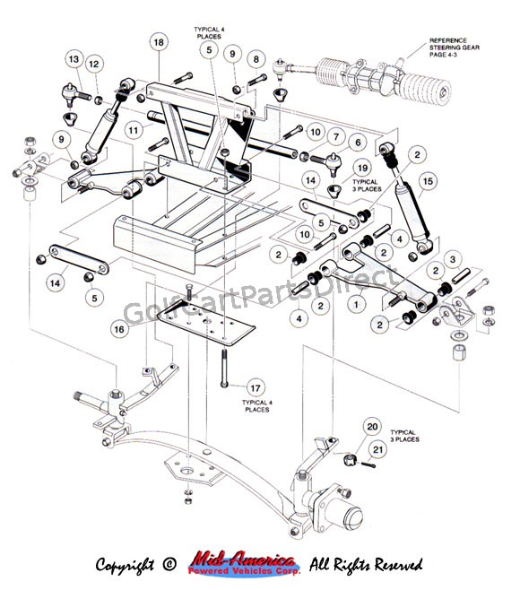 1999 yamaha g16 gas wiring diagram front suspension upper golfcartpartsdirect  front suspension upper