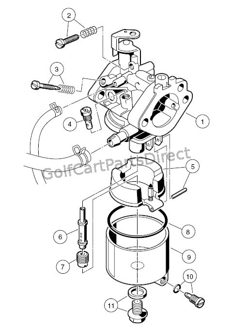 C Carb Assembly on Mikuni Carburetor Diagram