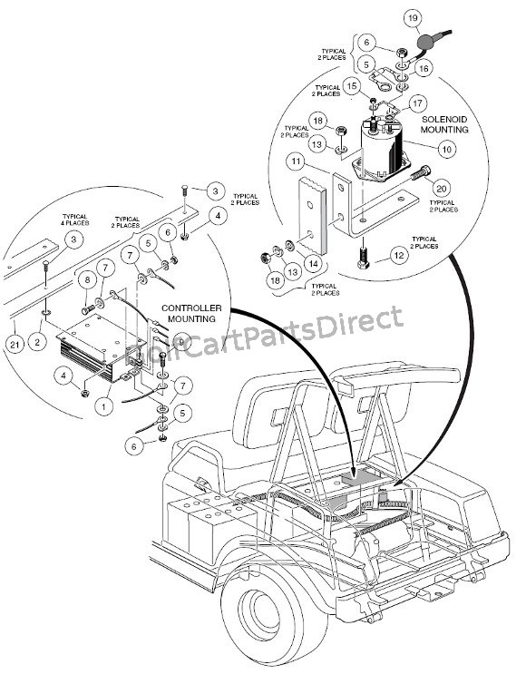 Electrical Components - Rear Body - 48V