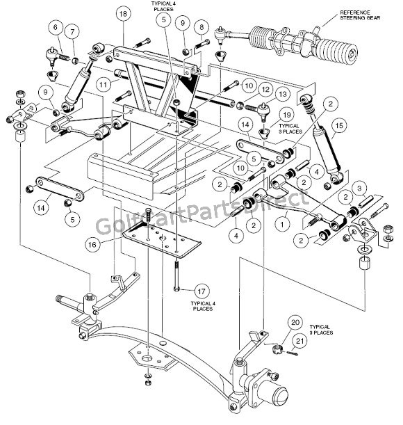 Club Car Suspension Parts Diagram - Wiring Diagrams Value Gas Club Car Precedent Wiring Diagram on