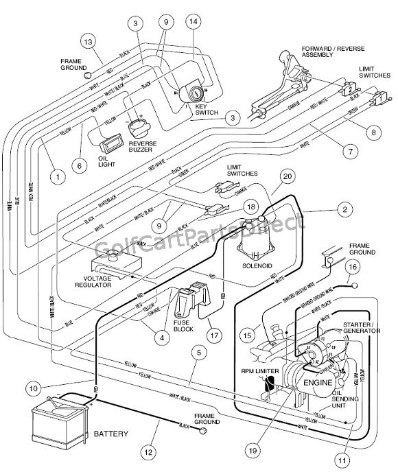 on gas club car wiring diagram tachometer