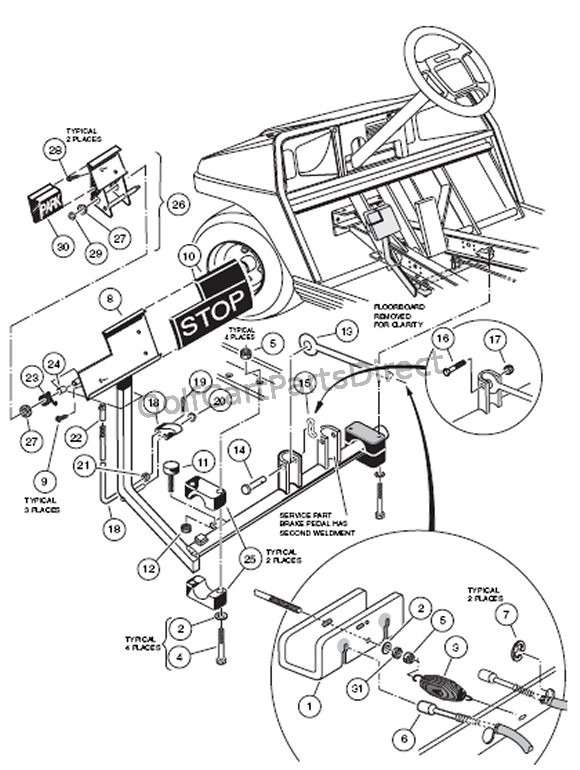Club Car Brake Diagram