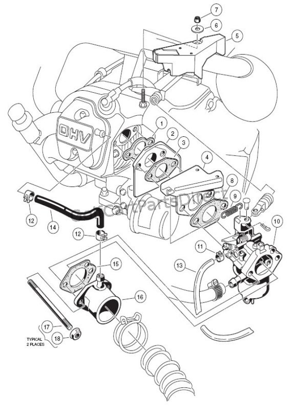 1993 Gas Club Car Parts Diagram