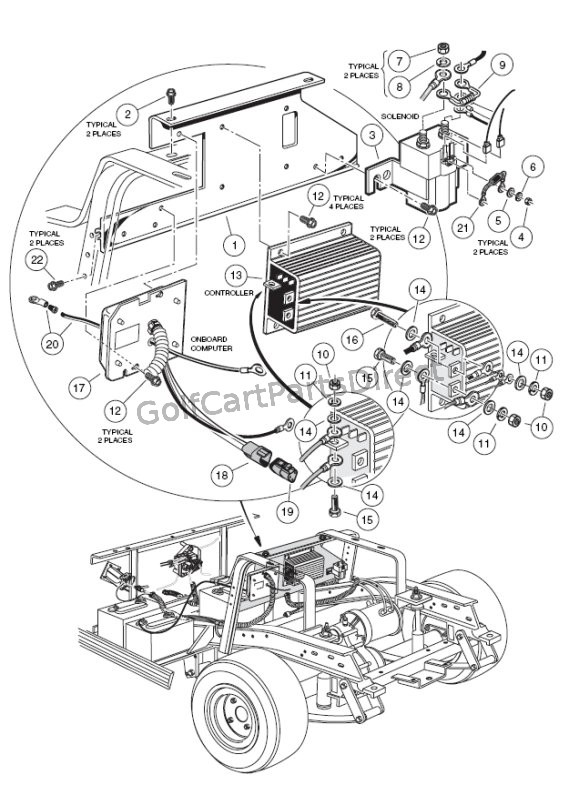 2000-2005 Club Car DS Gas or Electric - GolfCartPartsDirect on club car light wiring diagram, 2007 club car precedent wiring diagram, club car precedent parts diagram, club car electrical diagram,