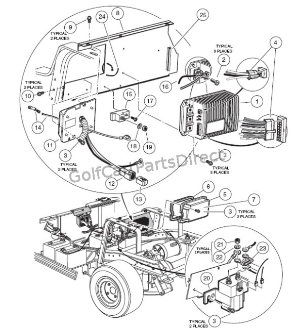 1992 club car battery diagram club car motor diagram on-board computer iq - club car parts & accessories #11