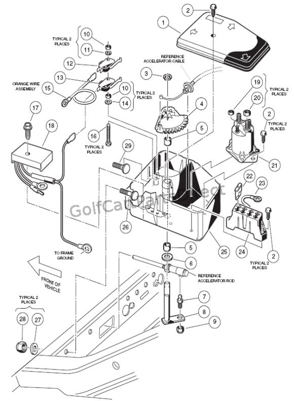 Electrical Box - Gas - GolfCartPartsDirect on club car parts diagram, club car 36v batteries diagram, club car electrical diagram,