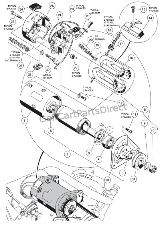 wiring diagram for club car starter generator the wiring diagram golf cart starter generator wiring diagram nilza wiring diagram