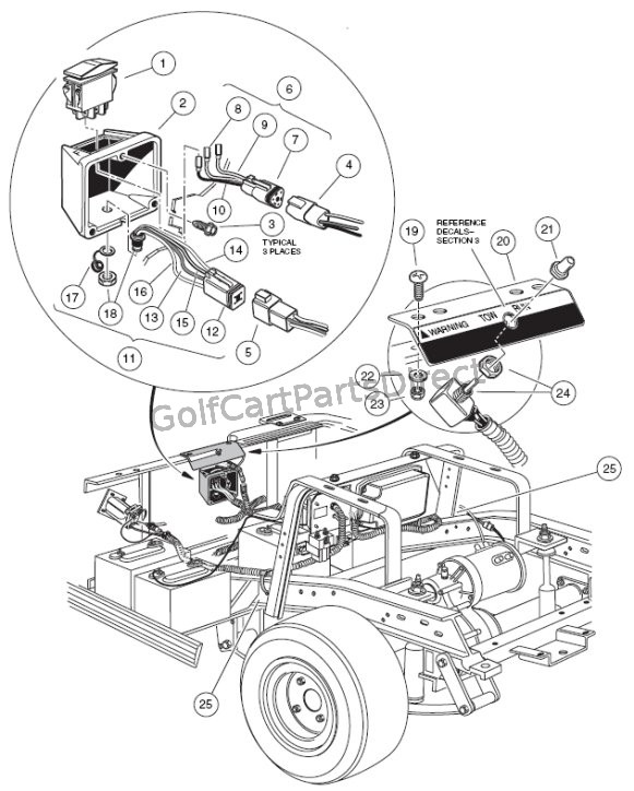 yamaha golf cart wiring diagram 2000 2005 club car ds gas or electric golfcartpartsdirect yamaha golf buggy wiring diagram 2000 2005 club car ds gas or electric