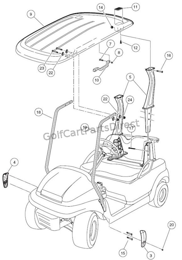 2004 2007 Club Car Precedent Gas Or Electric