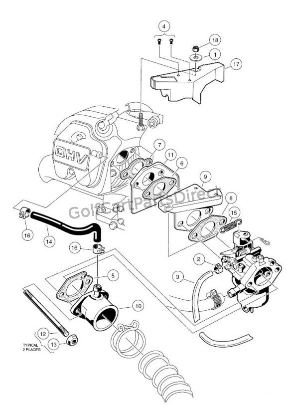 1986 yamaha golf cart wiring diagram carburetor installation fe290 golfcartpartsdirect  carburetor installation fe290 golfcartpartsdirect