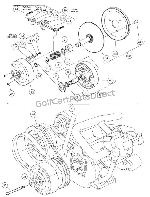 Club Car Drive Clutch Diagram | Wiring Diagram