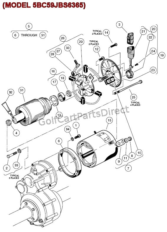 electric motor diagram parts