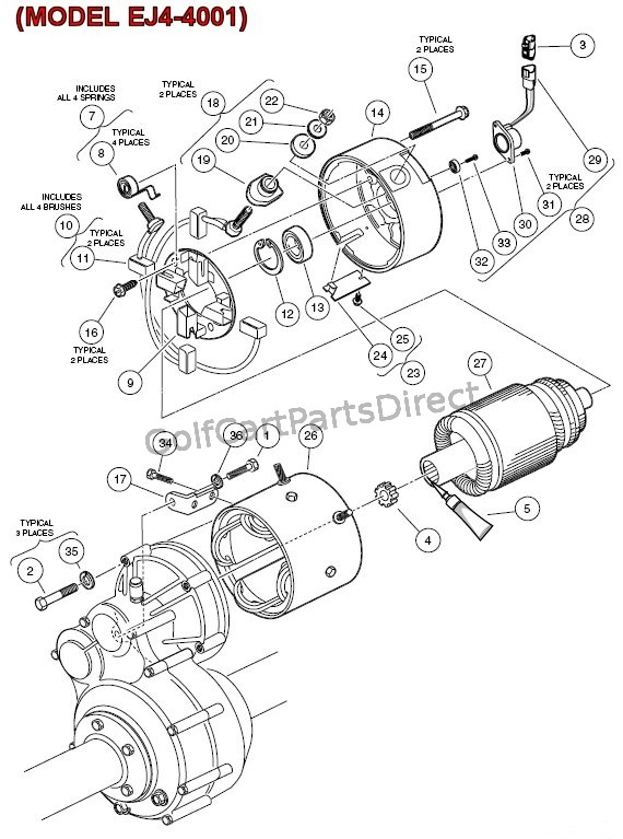 electric motor -  model ej4-4001