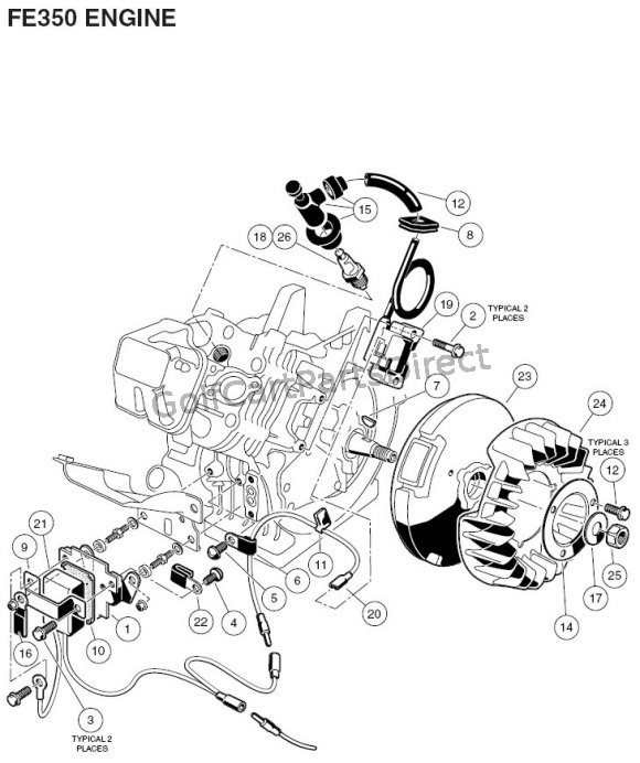 ezgo golf cart gas engine parts diagrams wiring diagram pdfgolfcartpartsdirect1984 1991 club car gas engine fe350 part 2 golfcartpartsdirectengine fe350 part 2