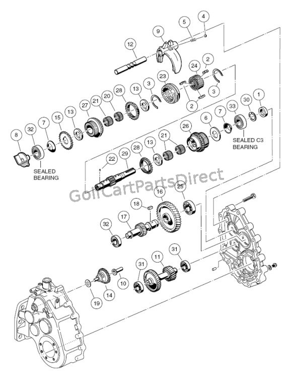 unintized transaxle - f u0026r transmission gear reduction
