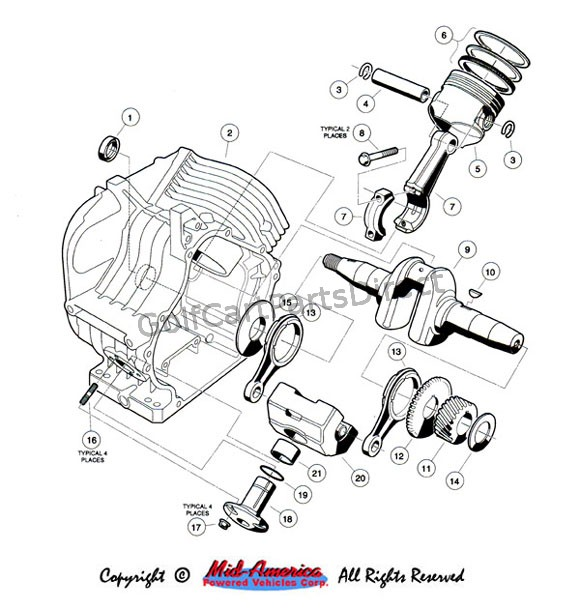 Kawasaki Fe350 Engine Service Manual on Engine Exploded View Diagram