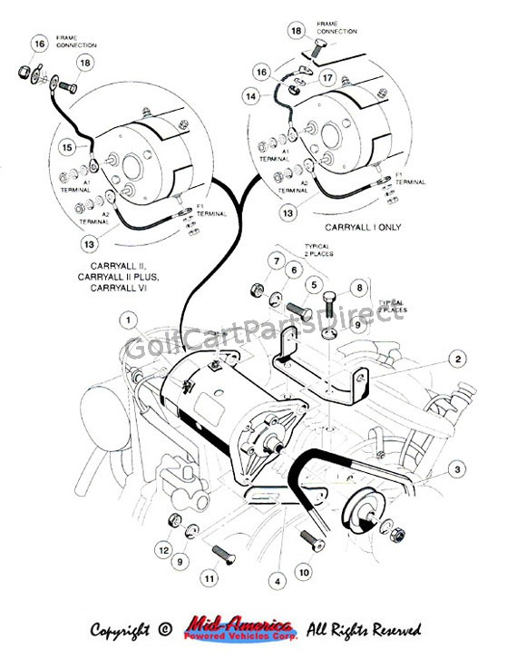 1992-1996 carryall 1, 2 & 6 by club car - golfcartpartsdirect car starter wiring diagram remote car starter wiring diagram