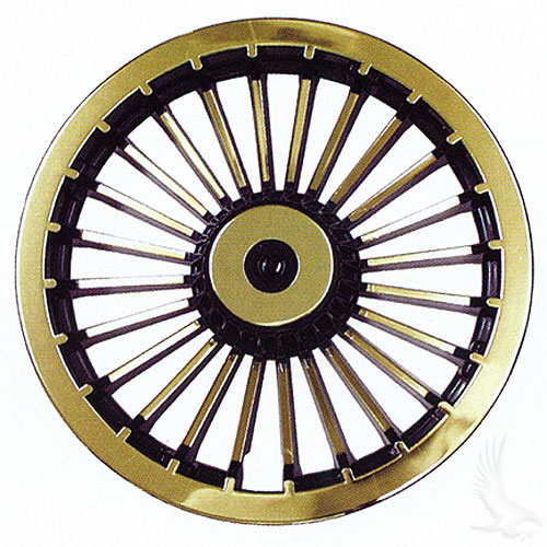 "8"" Turbine Hubcap - Black/Gold (sold individually)"