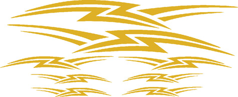 N-6630-1 - GRAPHICS, LIGHTNING, GOLD METALLIC