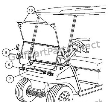 103888301 - HINGED WINDSHIELD KIT