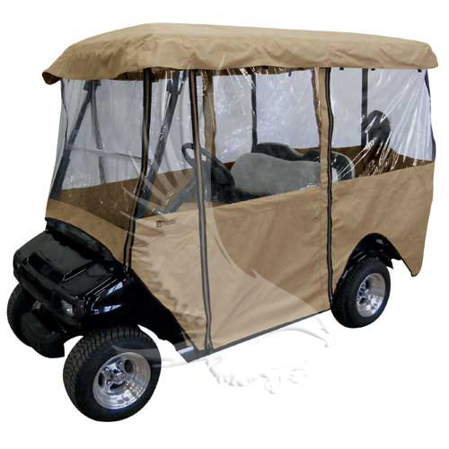 ENC-011 - Deluxe 4-Sided Enclosure - 4 Passenger Cart